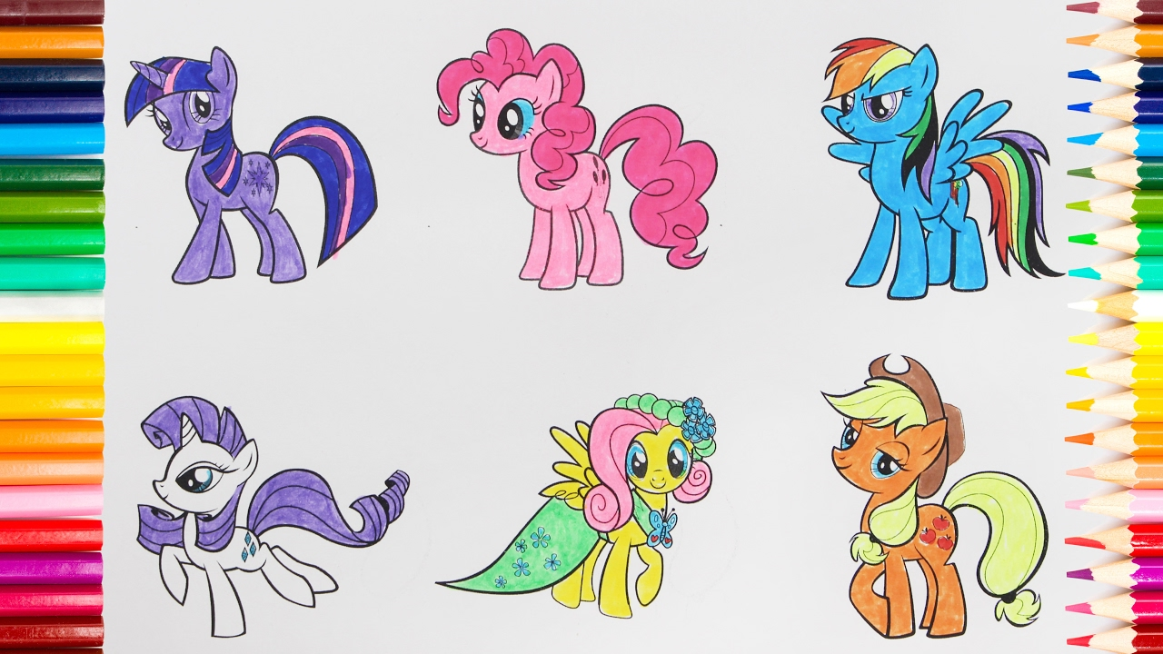 1280x720 My Little Pony Drawing For Kids. How To Paint A Picture All Ponies