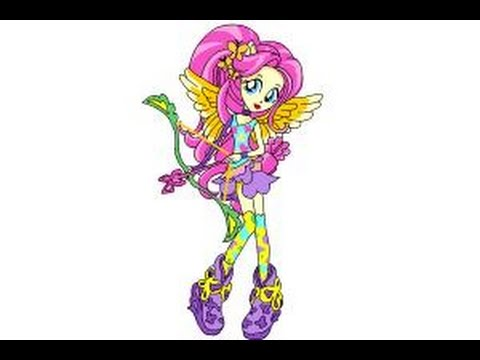 480x360 How To Draw Fluttershy From My Little Pony Equestria Girls
