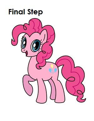 300x388 How To Draw Pinkie Pie (My Little Pony)