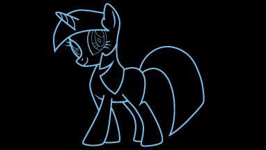 382x215 How To Draw Twilight Sparkle, My Little Pony, Cartoons, Easy Step