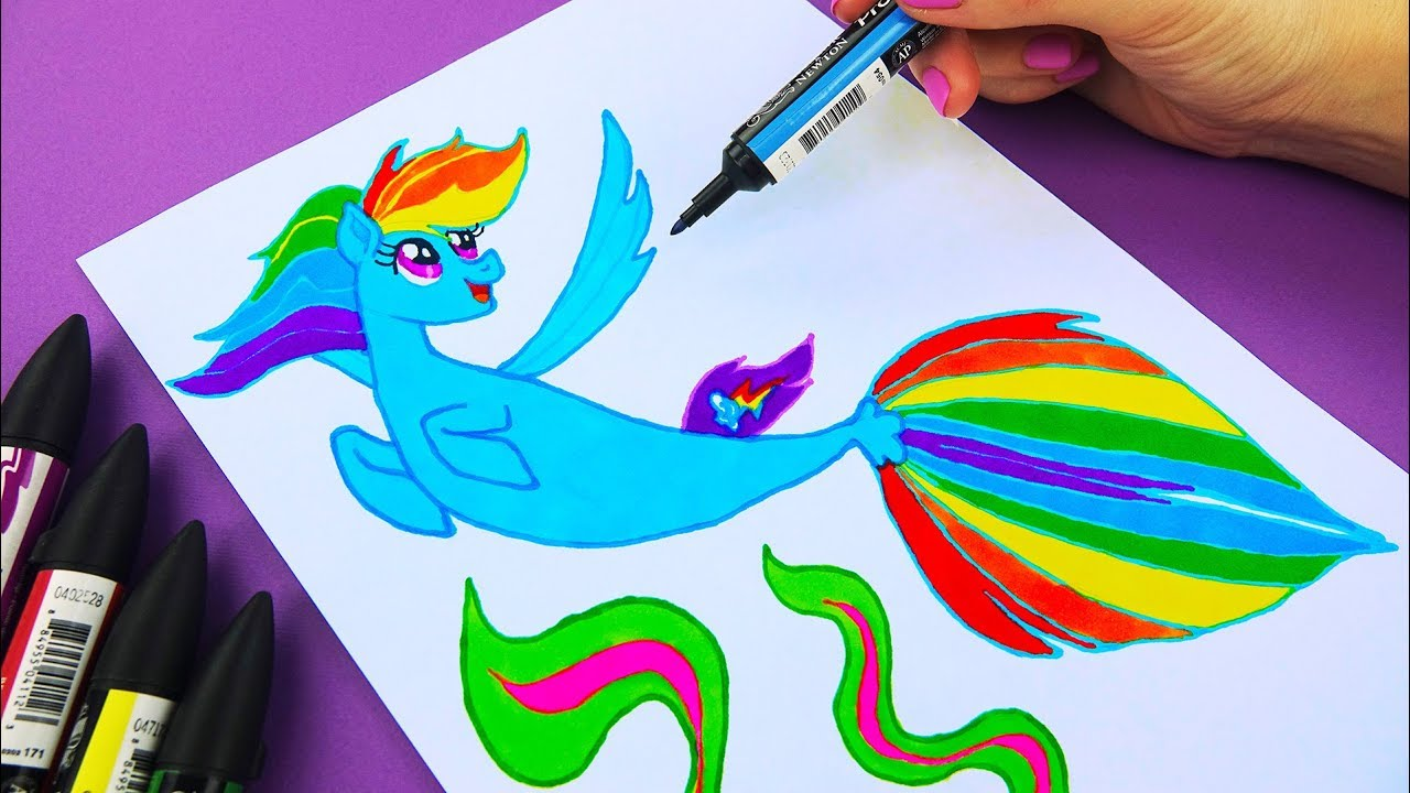 My Little Pony Characters Coloring Pages : My little pony drawing rainbow dash at getdrawings.com free for