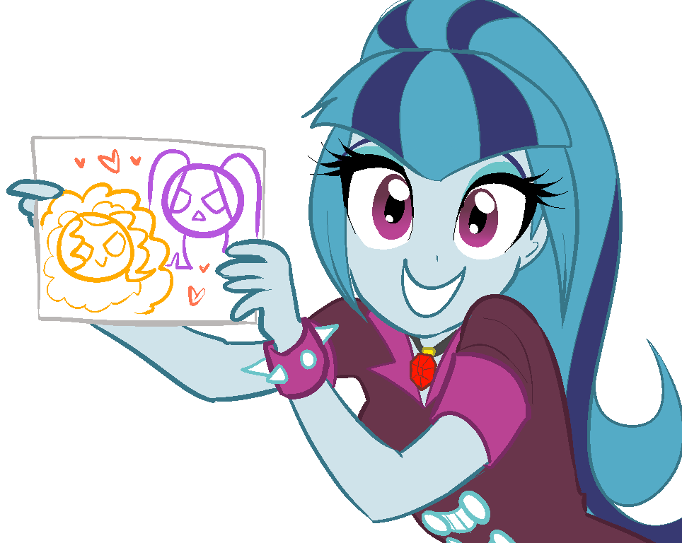 964x768 Sonata#39s Drawing My Little Pony Equestria Girls Know Your Meme