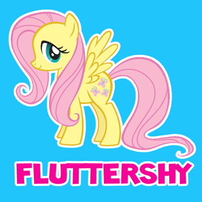 400x400 How To Draw Fluttershy From My Little Pony Friendship Is Magic