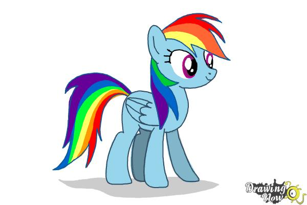 600x400 How To Draw Rainbow Dash From My Little Pony Friendship Is Magic