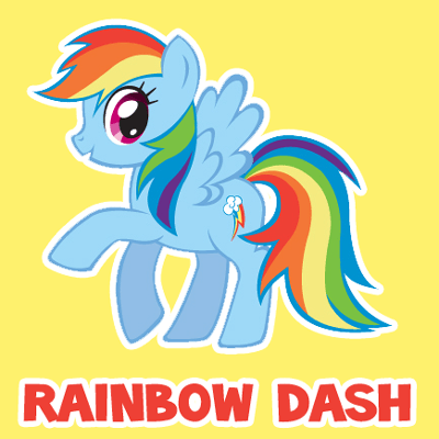 400x400 How To Draw Rainbow Dash From My Little Pony Friendship Is Magic