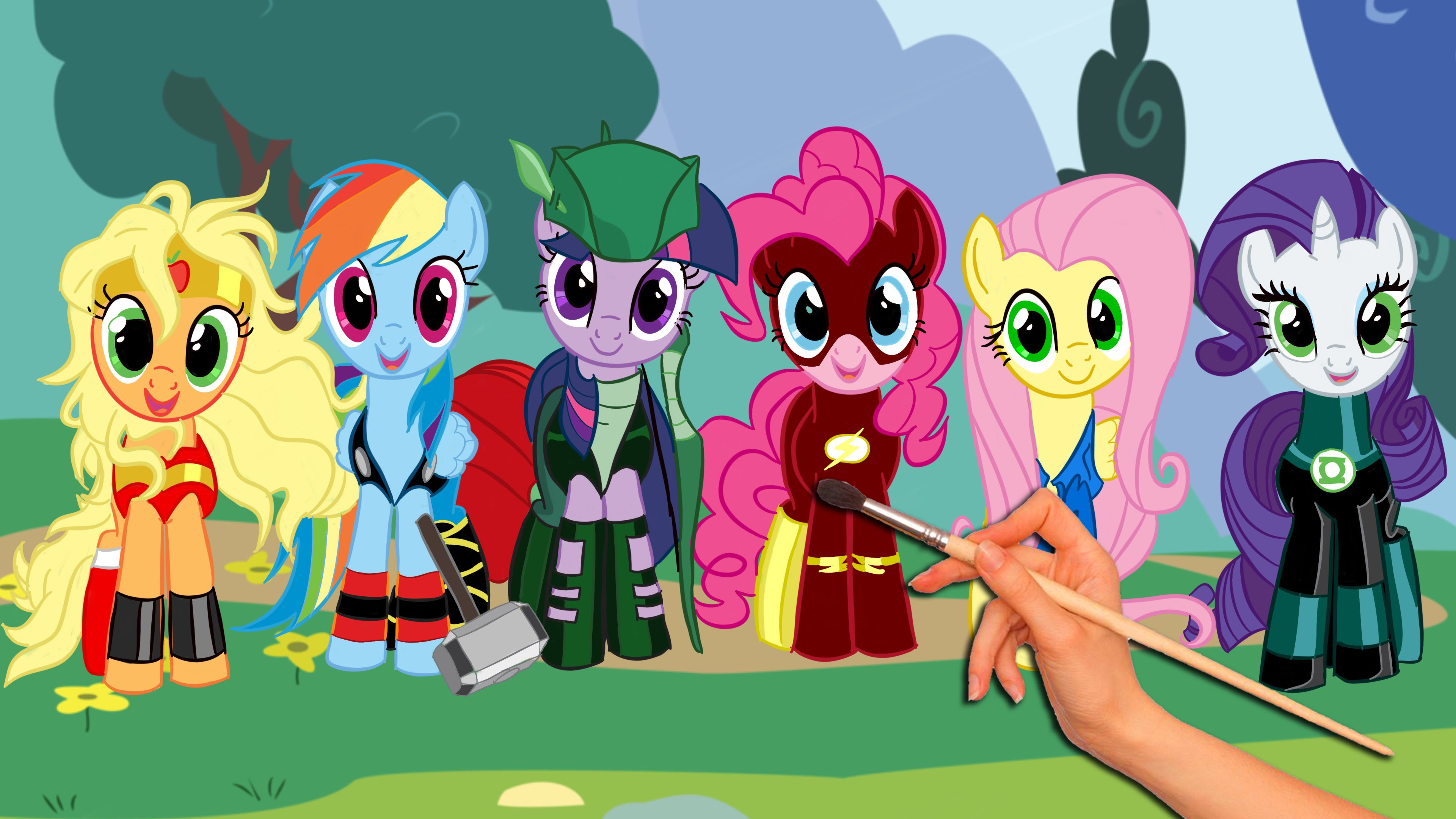 3840x2160 My Little Pony Friendship Is Magic Drawing Amp Coloring Super