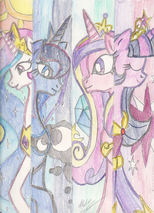 624x865 My Little Pony Friendship Is Magic Princesses By Mewmew55