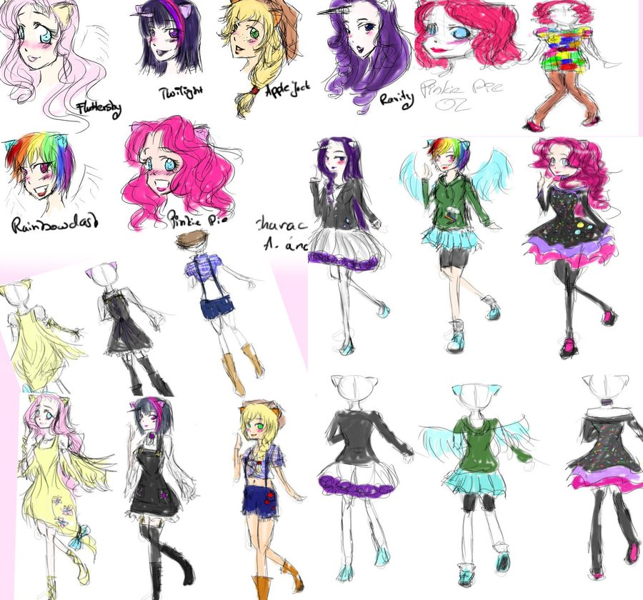 900x840 Sketches My Little Pony Friendship Is Magic By Red And Blue