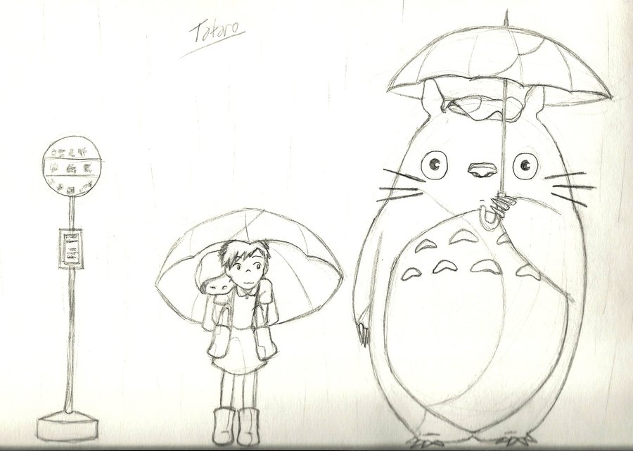 My Neighbor Totoro Drawing At Getdrawingscom Free For Personal - Totoro-coloring-pages