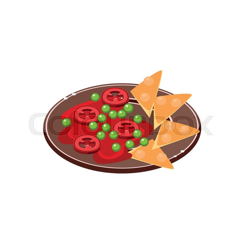 800x800 Salsa With Nachos On Plate Traditional Mexican Cuisine Sample