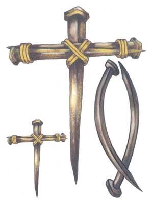300x400 Christian Cross Tattoos On 1 Card Christian Fish And 2 Nail