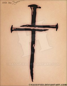 236x303 My Nail Cross Tattoo With Joshua 19 Ink Tattoo