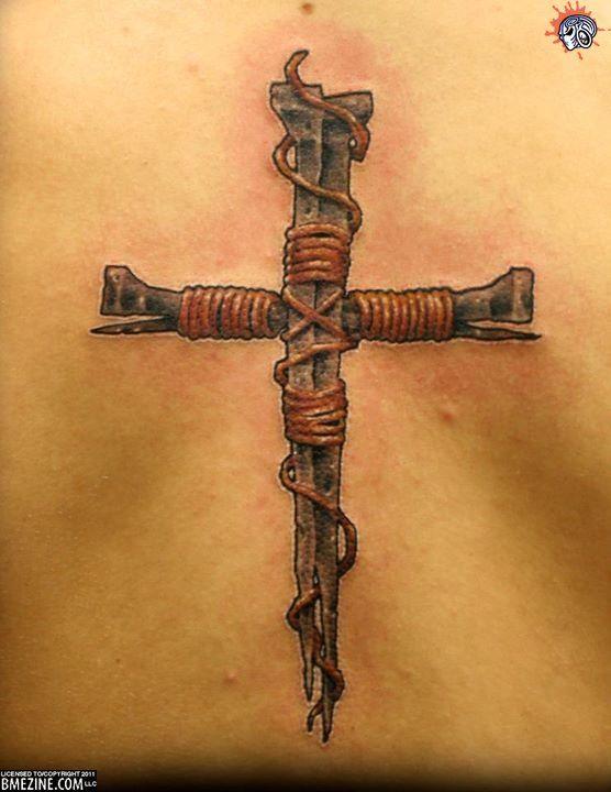 556x720 Nail Cross Tattoo Designs Elaxsir