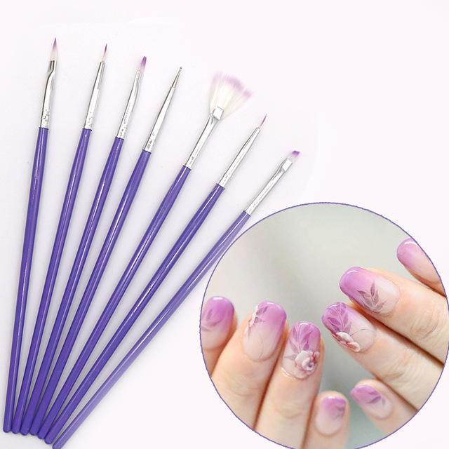 640x640 7pcsset Nail Art Brushes Kit Uv Gel Nail Polish Drawing Painting