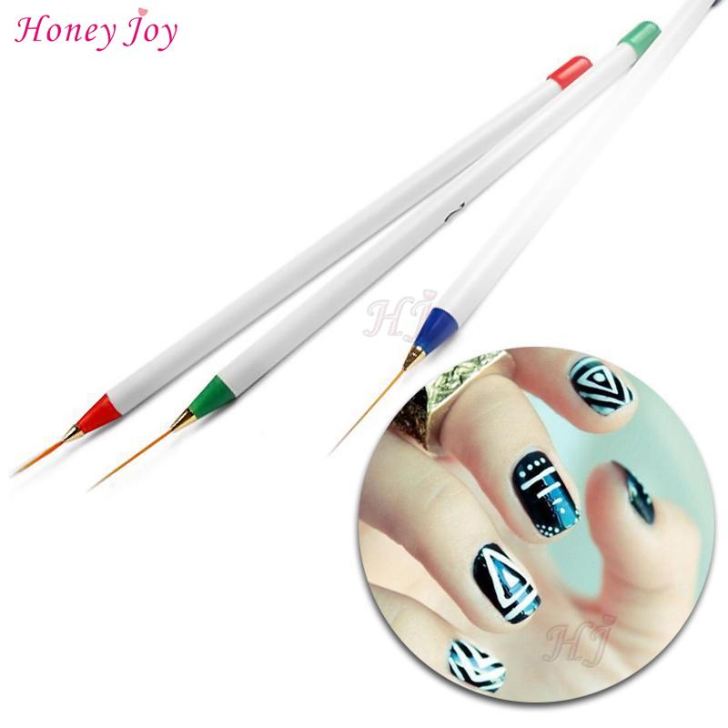800x800 3pcs 3d Drawing Nail Art Liner Striping Brush Gel Pens Diy