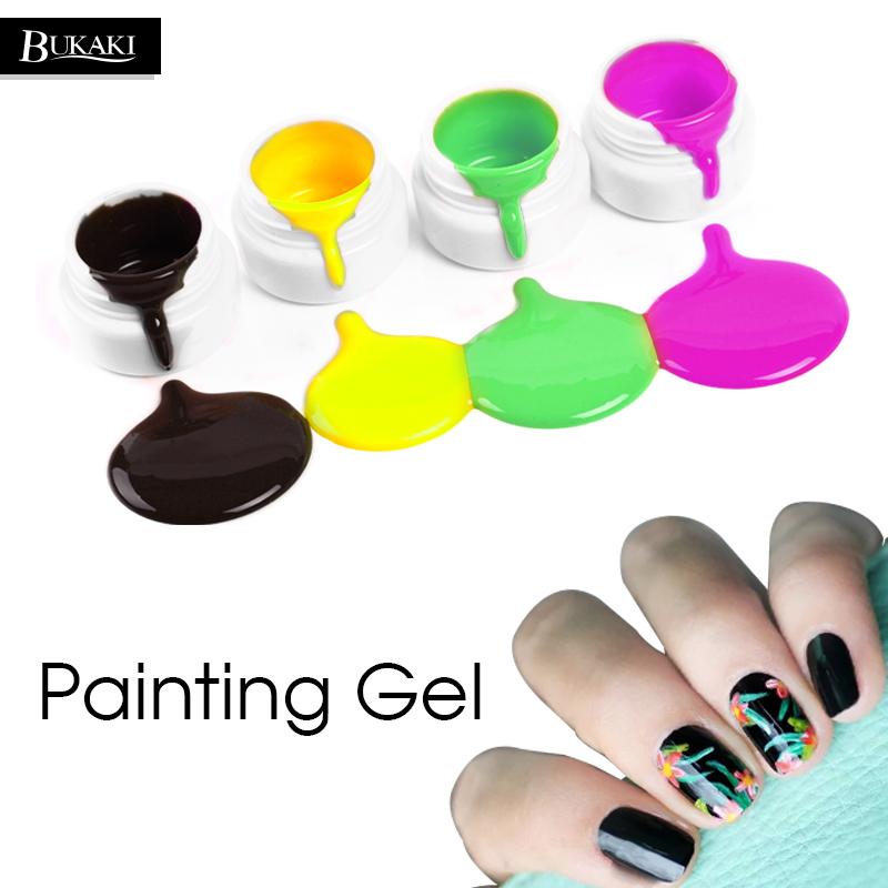 800x800 Bukaki Pure Colors Drawing Paint Bio Acrylic Nails Uv Gel Manicure