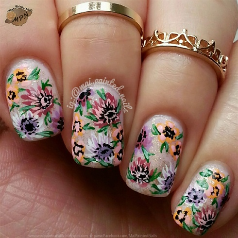490x490 Pretty Drawing Floral Nails