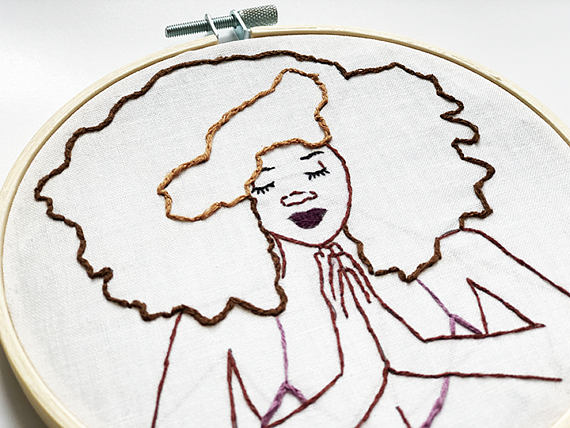 570x428 It's Namaste. Diy Embroidery Kit, Modern Embroidery, Diyfor Adults