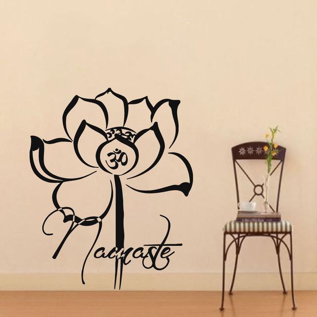 640x640 Lotus Wall Decals Namaste Flower Bohemian Decal Vinyl Sticker