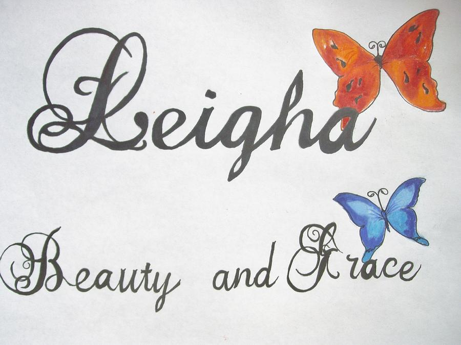 900x675 Leigha Name Plate Drawing By Emily Maynard