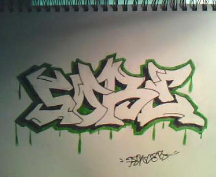440x360 Drawing Graffiti Names On Paper By. Graffiti Alphabet Crazy