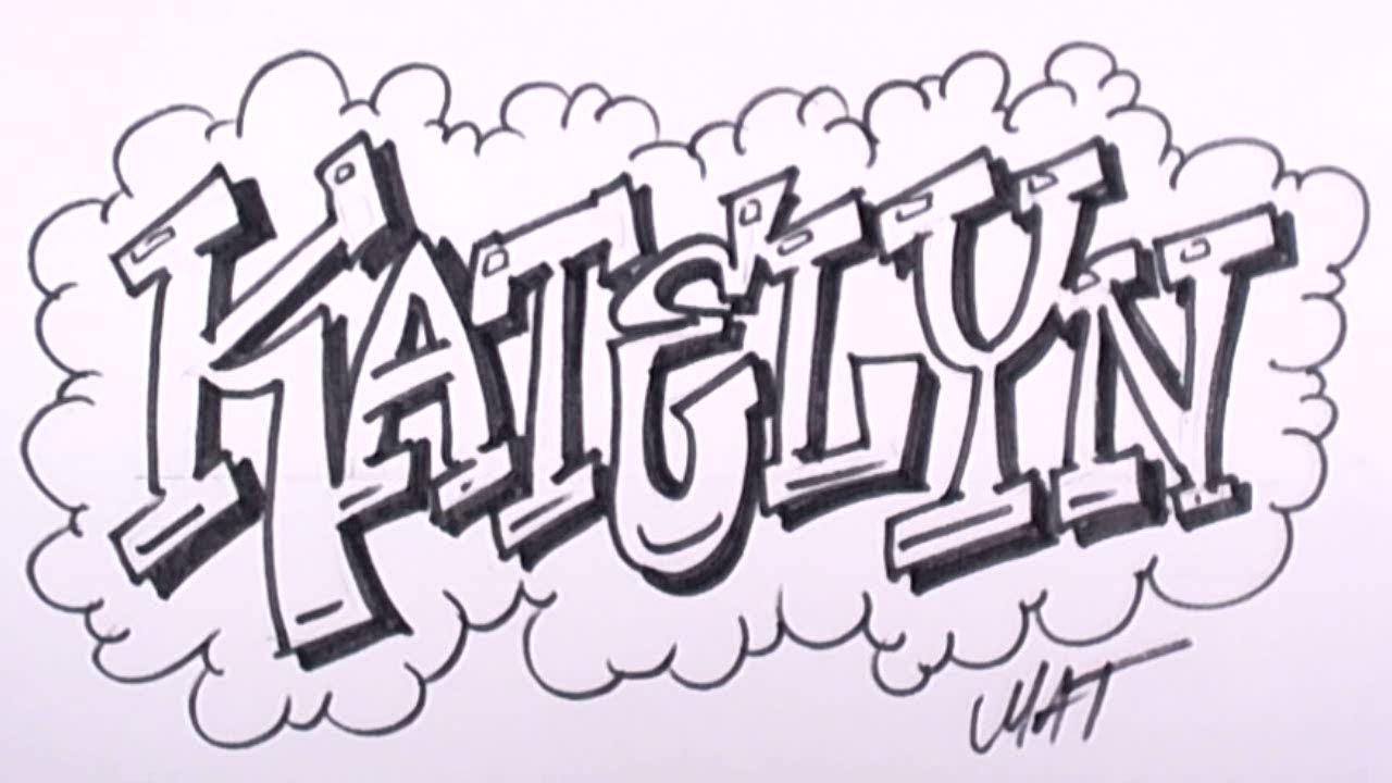 1280x720 Drawing Names Graffiti Writing Katelyn Name Design