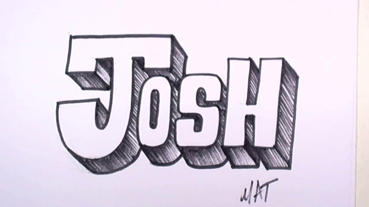1280x720 Graffiti Writing Josh Name Design