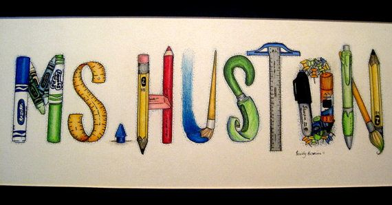 570x298 Personalized Hand Drawn Names For Teachers Wicked Cutee