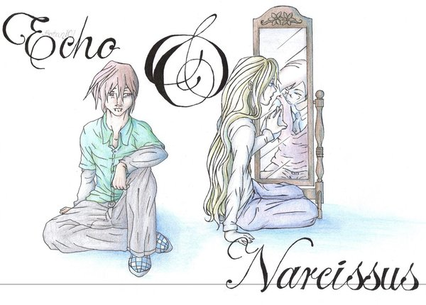 600x430 Echo And Narcissus By Botan101