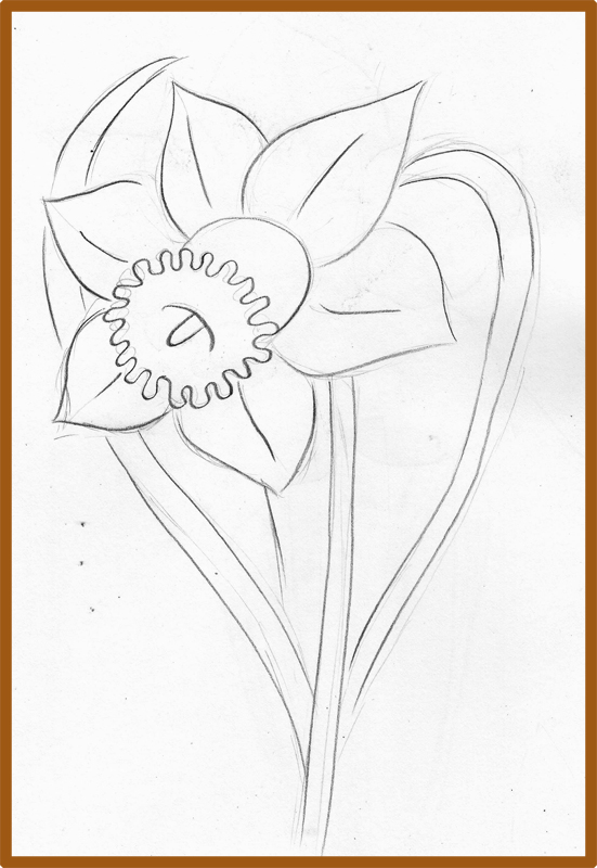 551x800 Weekly Doodles And Tuts How To Draw A Narcissusdaffodil