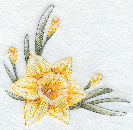 457x447 Embroidery Daffadills Embroidery Designs