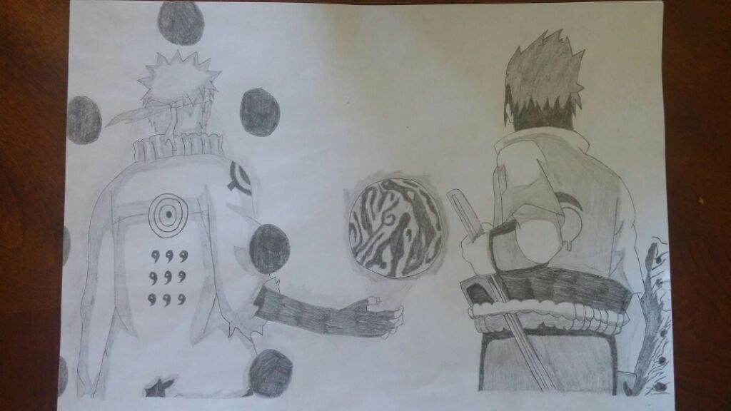 1024x576 Naruto And Sasuke Drawing (Sage Of Six Paths) Anime Amino