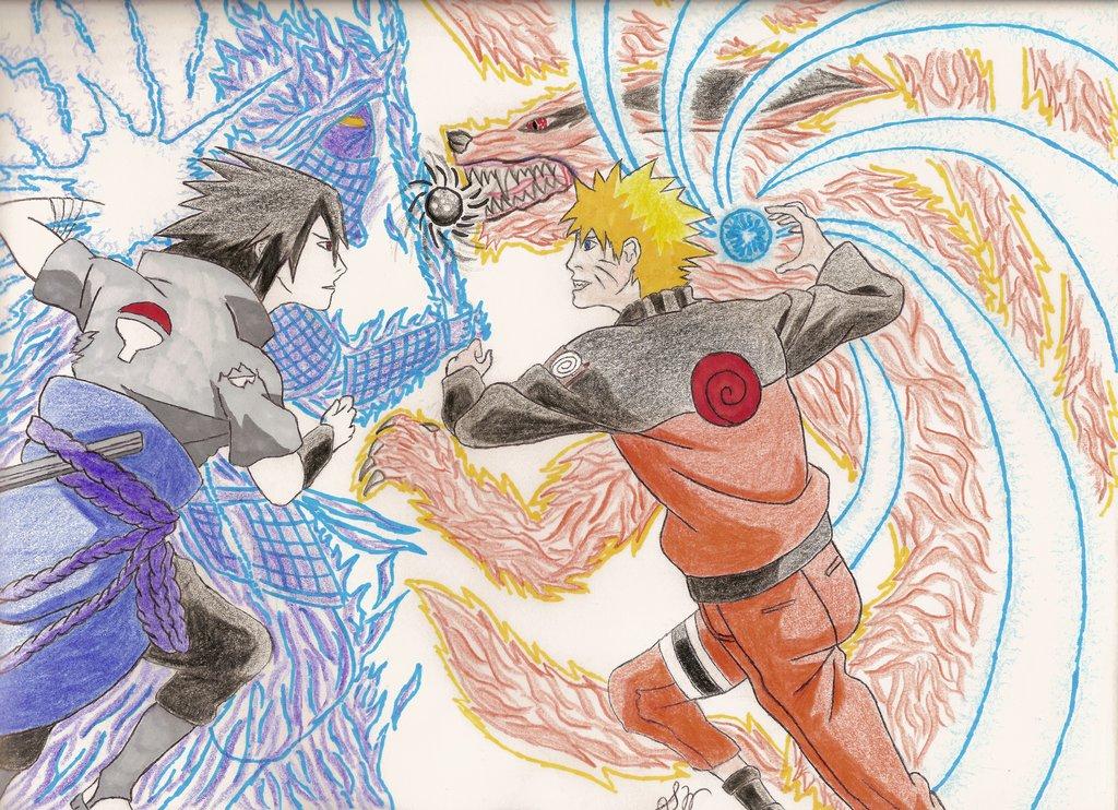 1024x742 Naruto Vs Sasuke By Swu16