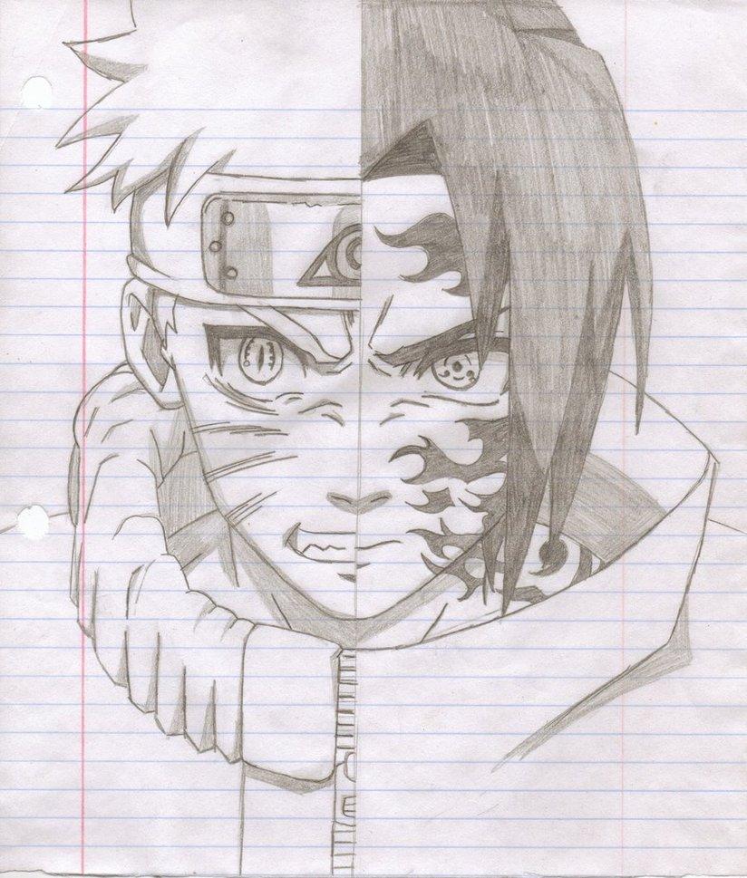 Naruto and sasuke drawing at free for - Dessin naruto et sasuke ...