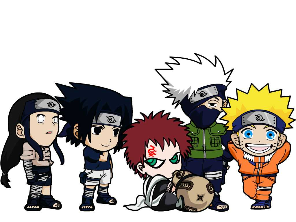 1024x768 Chibi Naruto Characters By Kookabura On Regarding