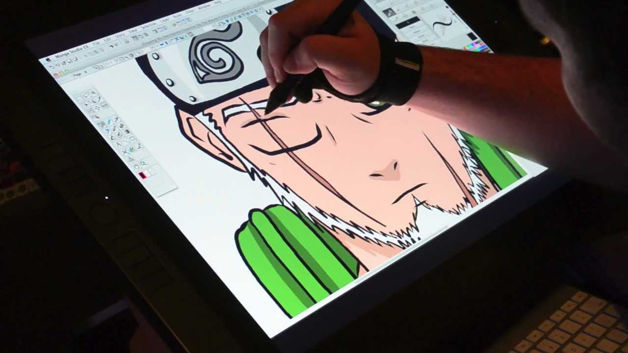 1280x720 Drawing My Own Naruto Character On The Wacom Cintiq 21ux