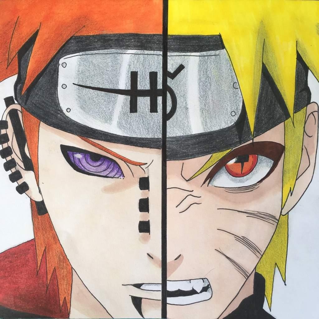 1024x1024 Draw] Pain amp Naruto 🔥 Naruto Amino