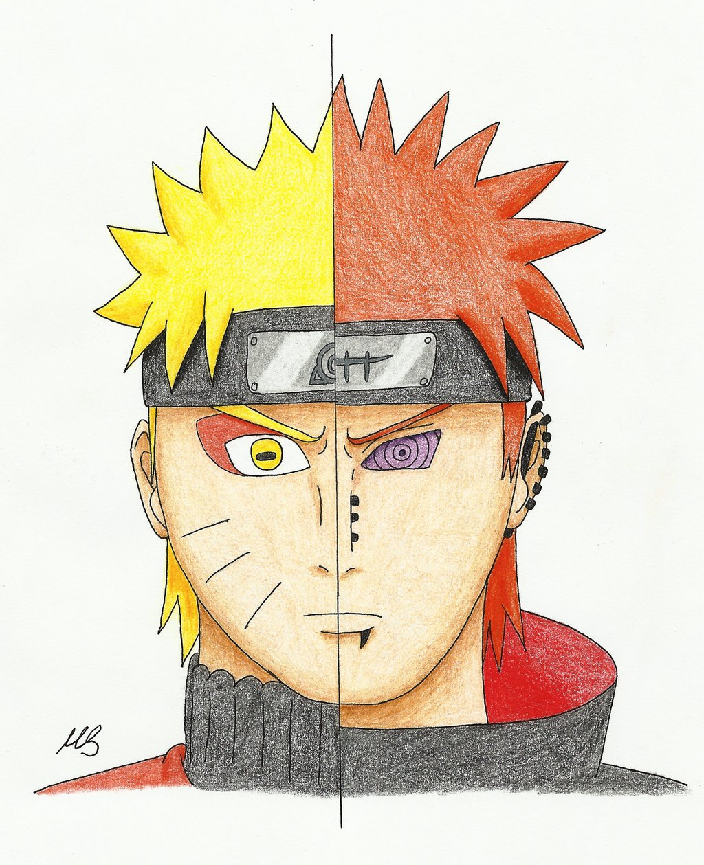1024x1259 Drawing Challenge Day 2 Naruto Pain by MSJPSakura on DeviantArt
