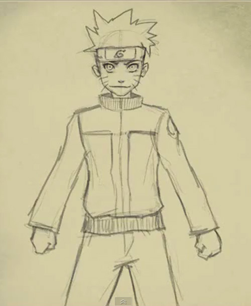 500x609 How to draw Naruto Uzumaki