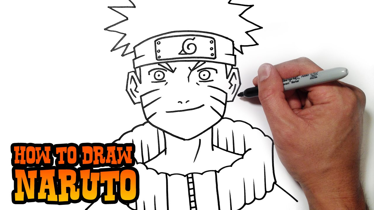 1280x720 How To Draw Naruto Simple Video Lesson