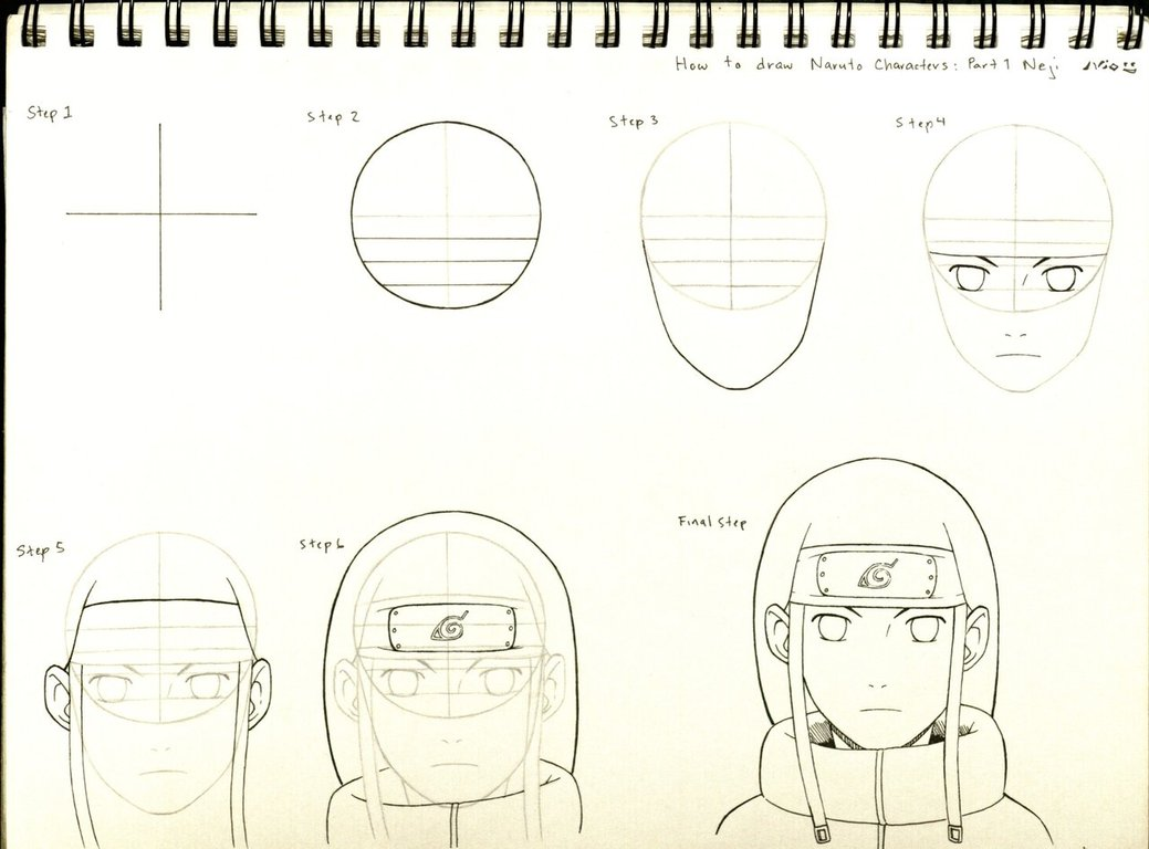 1039x768 How To Draw Naruto Characters