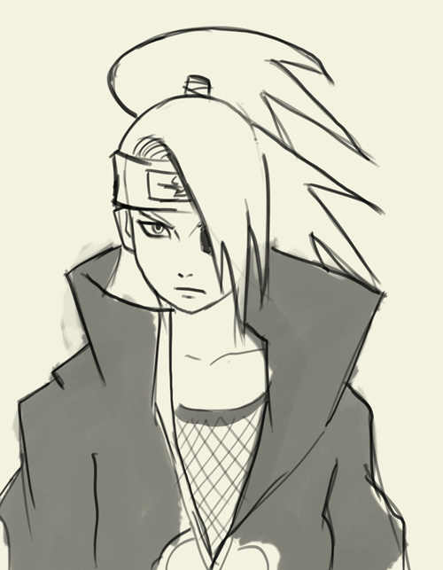 500x643 How To Draw Deidara