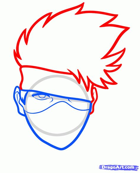 474x587 How To Draw Kakashi Easy Step 4 Drawing Kakashi