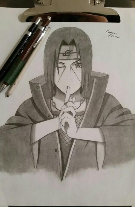 452x692 my pencil drawing of itachi uchiha