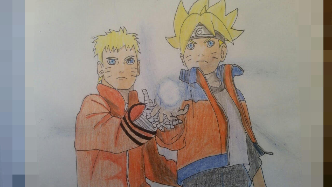 1280x720 Drawing Naruto And Boruto Rasengan