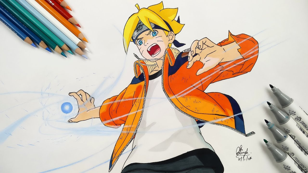 1280x720 How To Draw Boruto Rasengan