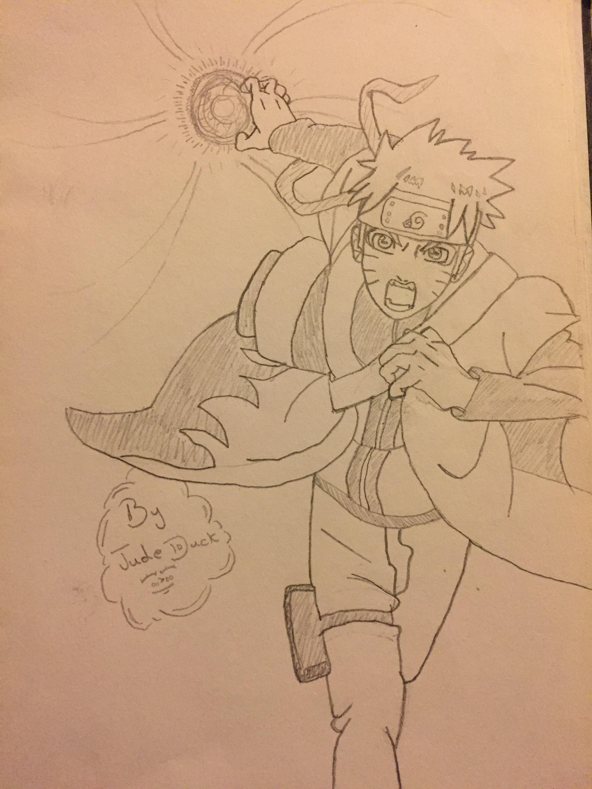 2448x3264 Naruto Sage Mode Rasengan Drawing I Did Naruto