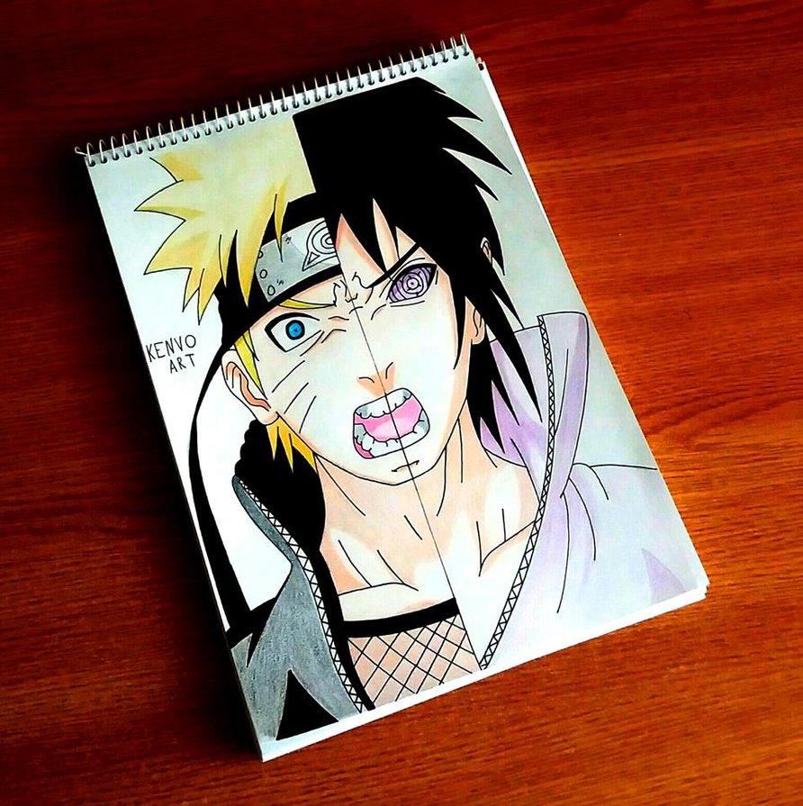 Naruto 486 Sasuke And Naruto By Allanwade On Deviantart: Naruto Sasuke Drawing At GetDrawings.com