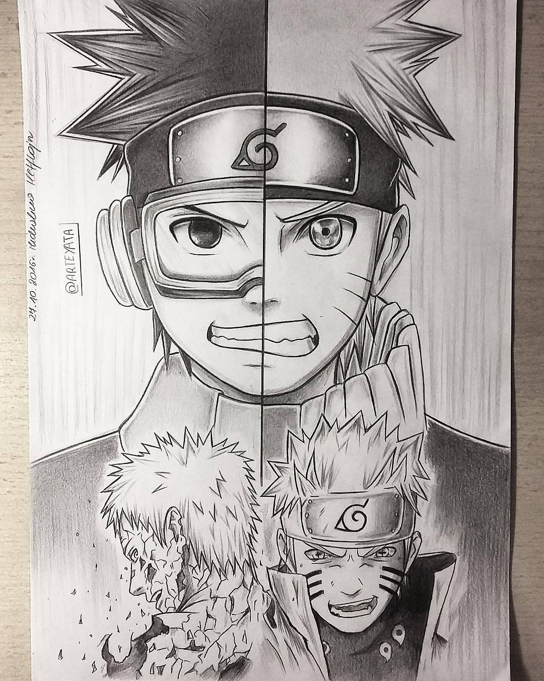 Naruto Uzumaki Drawing at GetDrawings | Free download