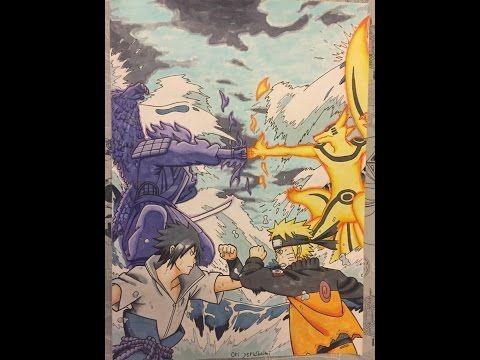 480x360 Drawing Naruto Vs Sasuke Final Fight